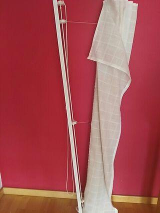 Mecanismo cortina estore, velcro, y cadena 1m 65cm