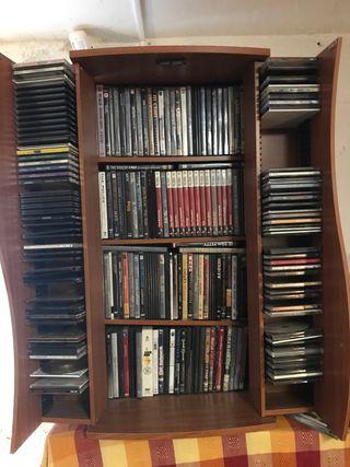 Armario para DVDs y CDs
