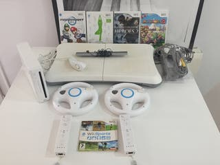 Wii plus four games and fit board