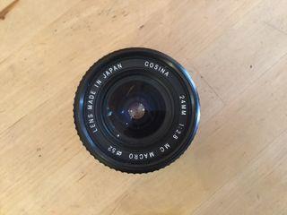 Lente macro Cosina 24mm