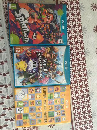 Juegos wii u, Splatoon , Mario Maker , Smash Bros