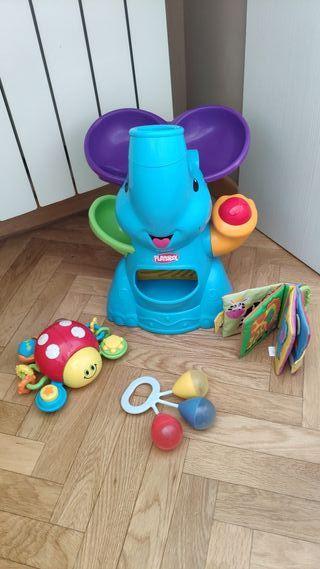Elefante Playskool. Mariquita libro sensorial