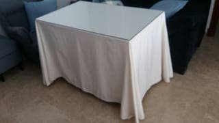 Mesa camilla con cristal y brasero