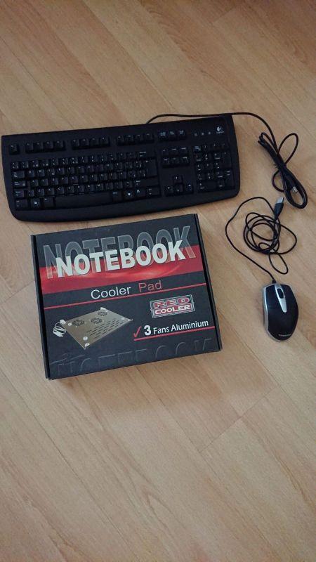 teclado ratón y ventilador para portátil.