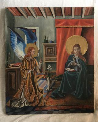 Cuadro religioso, pintado a mano