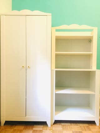 Conjunto 4 muebles infantil IKEA HENSVIK