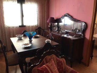 mesa comedor con 6 sillas estilo isabelino