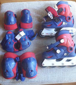 patines en línea (30-32) + protecciones