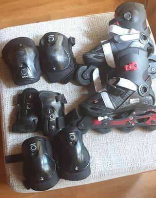 patines en línea (36-38) + protecciones