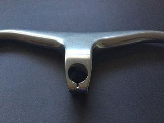 Manillar integrado carbono negro/gris mtb