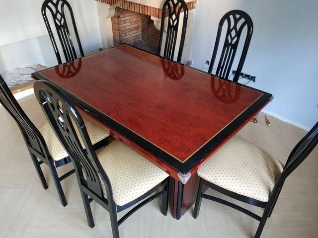 mesa salón y 6 sillas