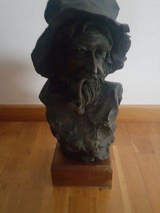 busto de bronce patinado. super precio