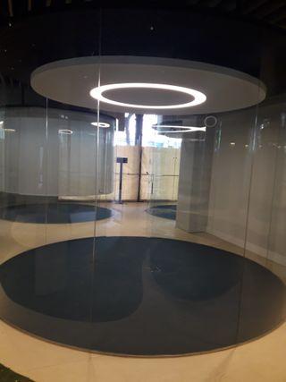 cristal curvo 3 despachos + hierros estructurales