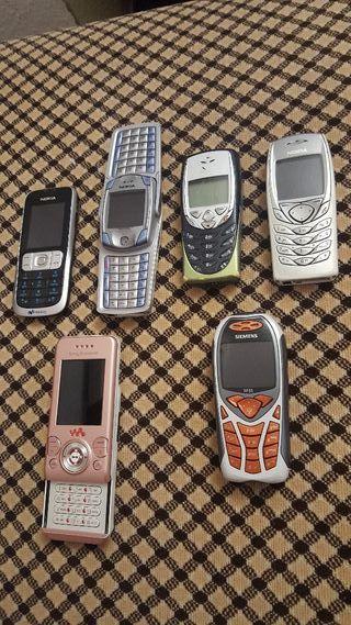 lote de 7 teléfono móviles antiguos