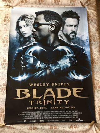 Cartelera de cine/ blade trinity poster