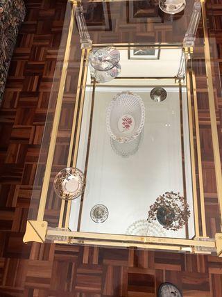 Mesa cristal centro salón