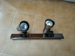 lampara con dos focos