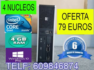 ORDENADOR QUAD CORE 4 NUCLEOS 4 GB RAM WINDOWS 10