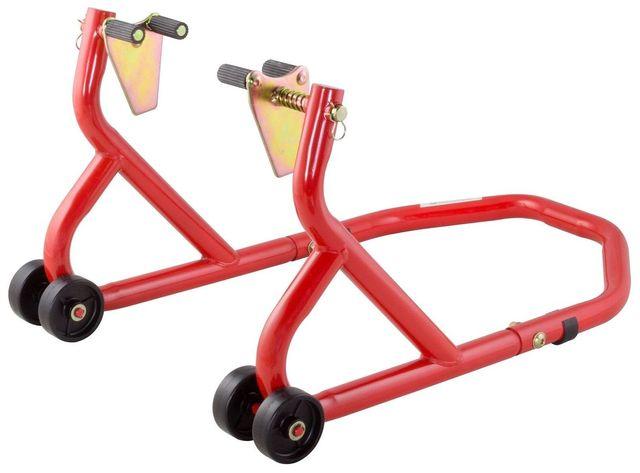 BikeTek Caballete moto horquilla/rueda delantera.