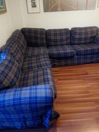 sofá de Ikea rinconera 245 x 245 y fondo 85