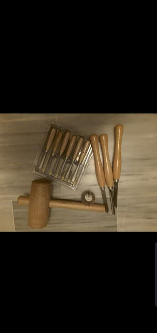 juego gubias más 3 formones torneado madera