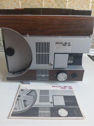Proyector antiguo Super 8 BOLEX + pantalla