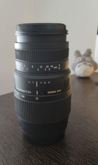 Objetivo Sigma 70-300mm