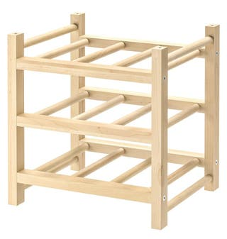 Botellero Ikea de madera