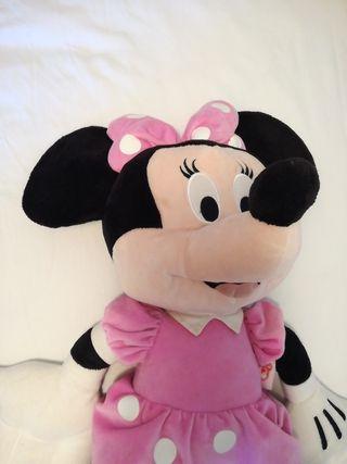 Peluche Minnie Mouse grande rosa Disney