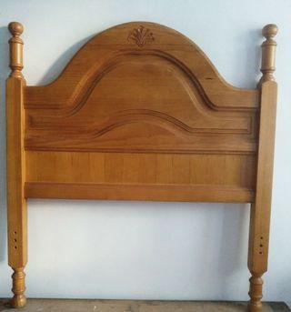 Cabezal cama madera