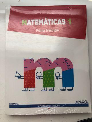 Libro MATEMATICAS 1 primaria ANAYA