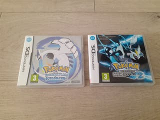 Lote Pokémon Plata y Negra 2 Nintendo Ds COMPLETOS
