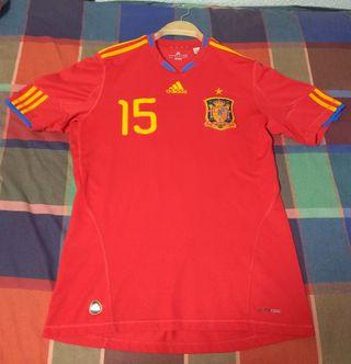 Camiseta oficial España Mundial 2010 con estrella.