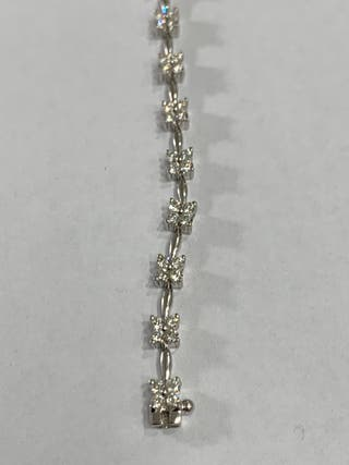 2.0 carat diamonds bracelet 18kt white gold