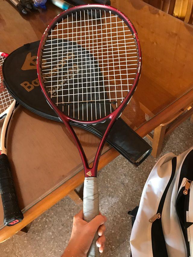 2 raquetas de tenis + accesorios