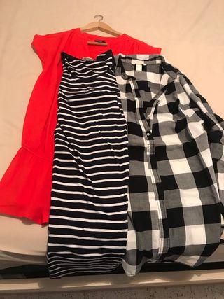 Pack 3 vestidos/camisolas premama
