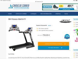 Cinta de Correr BH Fitness G6414 F1 Gama Alta