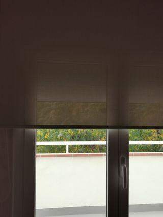 cortina enrollable estor 140 cm gris pastel