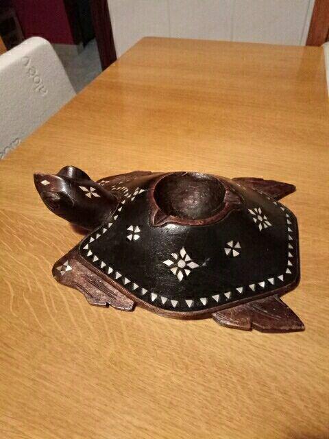 decoracion tortuga madera y nacar