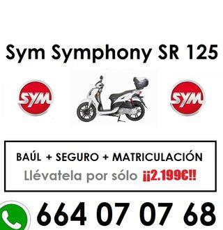 Sym Symphony Sr Top 125 SEGURO + BAÚL + MATRÍCULA!