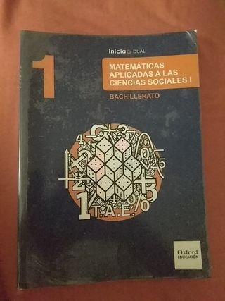 Libro matemáticas aplicadas 1° Bachillerato