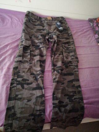 pantalones militares mujer