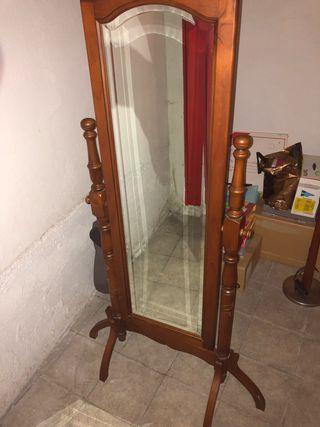 Espejo de vestidor Rustico