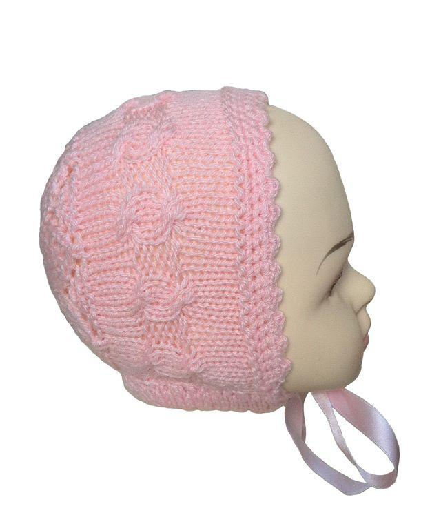 Capota, gorro rosa para niña 1 a 2 años, Nueva