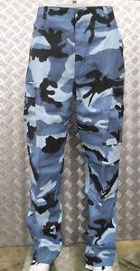 pantalones militares azul