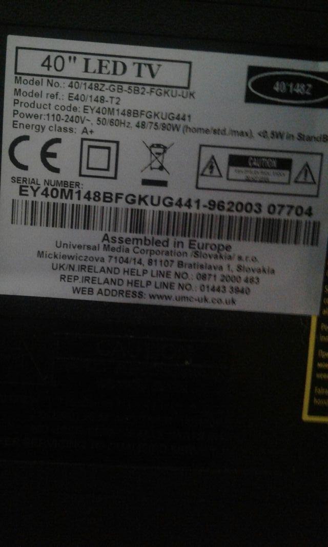 """tv led e-motion 40"""""""
