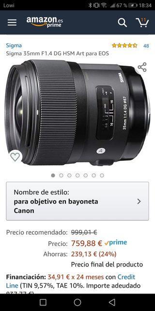 Sigma DG HSM Art 35mm 1.4 - Canon