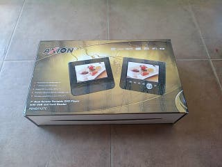 Reproductor de DVD doble pantalla.