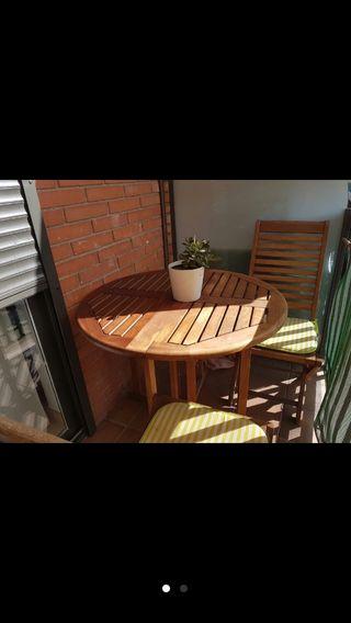 Mesa teka jardín