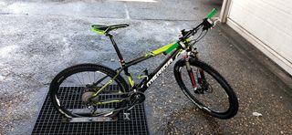 bicicleta de MTB de fibra de carbono talla M
